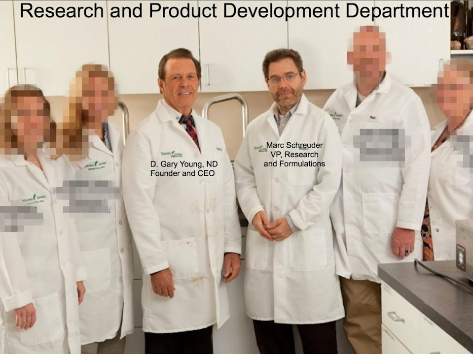 Young Living's research and product-development department.