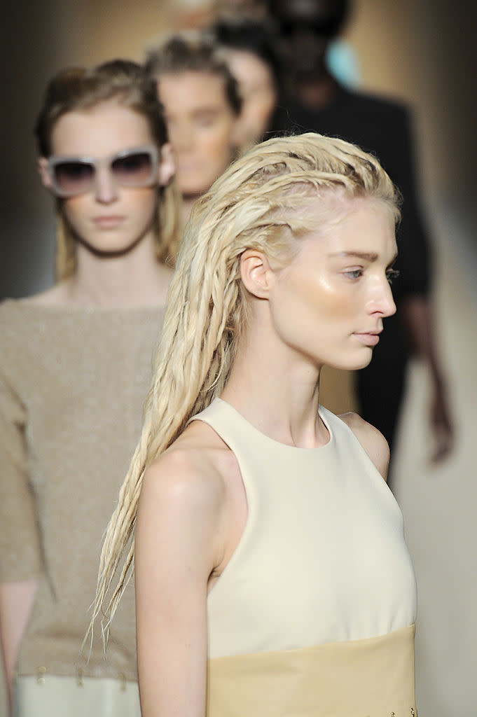 Why not cast a black model with dreadlocks? (Photo by Karl Prouse/Catwalking/Getty Images)