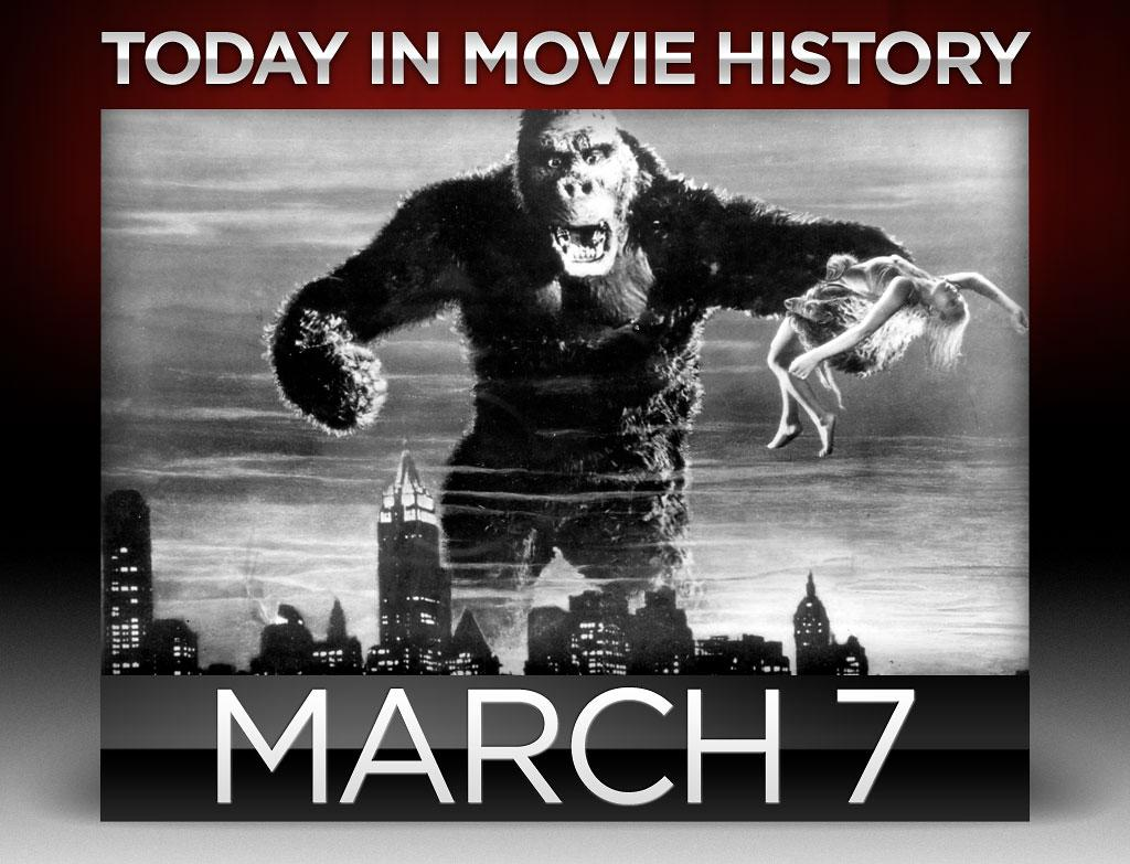 "<strong>1933</strong> – ""<a href=""http://movies.yahoo.com/movie/king-kong/"">King Kong</a>"" premiered in New York City on this day. The picture features Fay Wray and Robert Armstrong, but the real star is Kong, a giant ape brought to life by filming stop-motion animation of 18"" models. ""Kong"" brought in over 50,000 people on its first day and would go on to set an attendance record for an indoor event. It inspired numerous remakes, some of which fared equally well at the box office.  To get Kong's roar just right, sound technicians combined roars from lions and tigers, then played them backwards.  Oh my!"