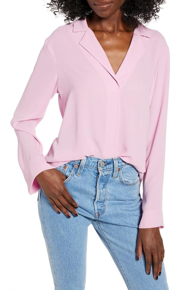 """<p>The lightweight <a href=""""https://www.popsugar.com/buy/All%20in%20Favor%20Harper%20Long%20Sleeve%20Top-467754?p_name=All%20in%20Favor%20Harper%20Long%20Sleeve%20Top&retailer=shop.nordstrom.com&price=32&evar1=fab%3Aus&evar9=46372675&evar98=https%3A%2F%2Fwww.popsugar.com%2Ffashion%2Fphoto-gallery%2F46372675%2Fimage%2F46372833%2FAll-Favor-Harper-Long-Sleeve-Top&list1=shopping%2Cnordstrom%2Cfall%20fashion%2Csales%2Ctops%2Csale%20shopping%2Cnordstrom%20sale%2Cnordstrom%20anniversary%20sale&prop13=mobile&pdata=1"""" rel=""""nofollow"""" data-shoppable-link=""""1"""" target=""""_blank"""" class=""""ga-track"""" data-ga-category=""""Related"""" data-ga-label=""""https://shop.nordstrom.com/s/all-in-favor-harper-long-sleeve-top/5267914?origin=category-personalizedsort&amp;breadcrumb=Home%2FAnniversary%20Sale%2FWomen%2FClothing%2FTops&amp;color=mauve%20mist"""" data-ga-action=""""In-Line Links"""">All in Favor Harper Long Sleeve Top</a> ($32, originally $49) is a great layering piece.</p>"""