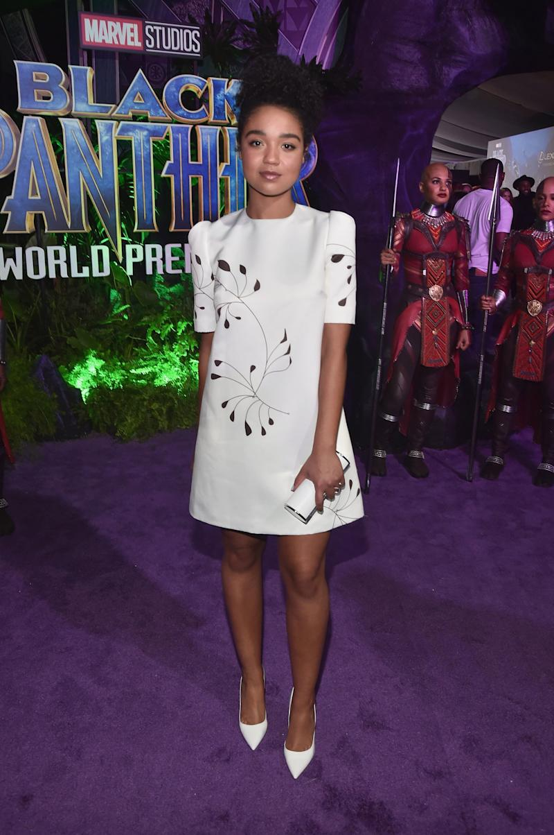 Who: Aisha Dee What: Landero Where: At the Black Panther premiere, Los Angeles When: January 29, 2018
