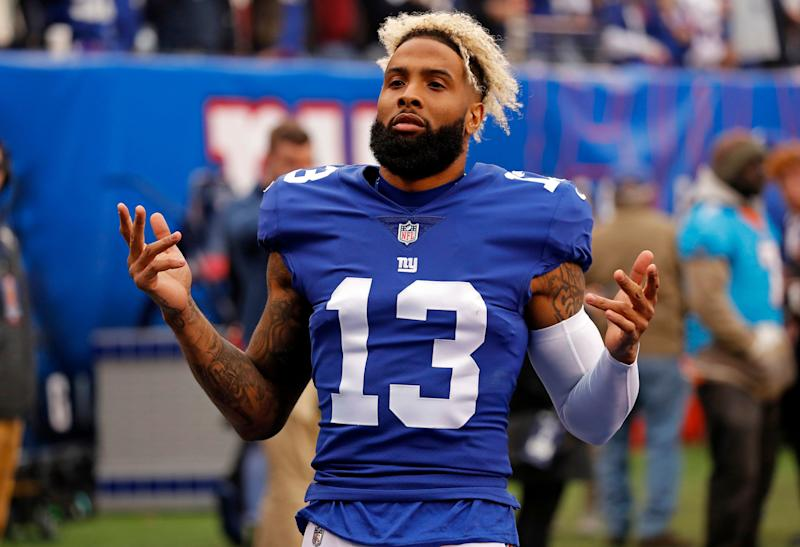 Giants Twitter omitted the fact that Odell Beckham left town in Tuesday's trade. (AP)