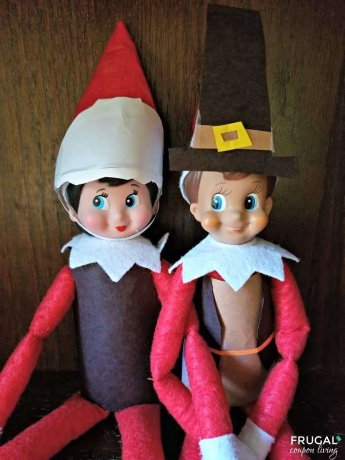 """<p>Your Elf might want to make an appearance as early as Thanksgiving Day, which calls for a cute pilgrim costume.</p><p><strong>Get the tutorial at <a href=""""https://www.frugalcouponliving.com/thanksgiving-pilgrim-elf-on-the-shelf/"""" rel=""""nofollow noopener"""" target=""""_blank"""" data-ylk=""""slk:Frugal Coupon Living"""" class=""""link rapid-noclick-resp"""">Frugal Coupon Living</a>.</strong></p><p><a class=""""link rapid-noclick-resp"""" href=""""https://www.amazon.com/42pcs-Fabric-Assorted-Squares-Nonwoven/dp/B01GCLS32M/?tag=syn-yahoo-20&ascsubtag=%5Bartid%7C10050.g.22690552%5Bsrc%7Cyahoo-us"""" rel=""""nofollow noopener"""" target=""""_blank"""" data-ylk=""""slk:SHOP FELT"""">SHOP FELT</a></p>"""