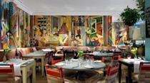 """<p><strong>The Restaurant:</strong></p><p>The Oscar Bar and Grill serves a famous (and British) afternoon tea. Teacakes, scones and clotted cream perched on a tiered stand arrive as you sit surrounded by original artwork.</p><p><a class=""""link rapid-noclick-resp"""" href=""""https://www.firmdalehotels.com/hotels/london/charlotte-street-hotel/afternoon-tea/"""" rel=""""nofollow noopener"""" target=""""_blank"""" data-ylk=""""slk:BOOK Afternoon Tea Starting at £26 pp"""">BOOK Afternoon Tea Starting at £26 pp</a><br></p>"""