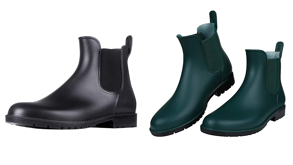 Keep your feet warm and dry this fall with a pair of chic rain boots.