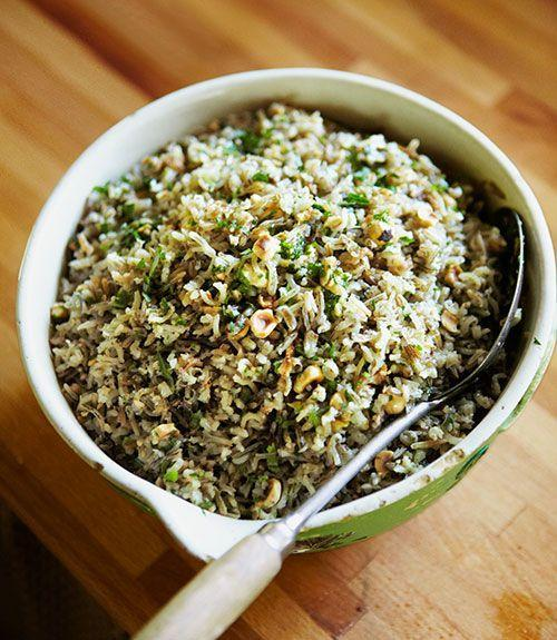 """<p>This protein-rich combo of nuts and wild grains makes a good side dish or a hearty main all on its own. Pair with a salad for a full meal. One note: Vegan substitutes won't """"brown"""" the way butter does, so you can skip that step, but the toasted hazelnuts will impart plenty of rich, nutty flavor.</p><p><strong><a href=""""https://www.countryliving.com/food-drinks/recipes/a4461/steamed-wild-rice-toasted-hazelnut-butter-recipe-clv0913/"""" rel=""""nofollow noopener"""" target=""""_blank"""" data-ylk=""""slk:Get the recipe"""" class=""""link rapid-noclick-resp"""">Get the recipe</a>.</strong></p>"""