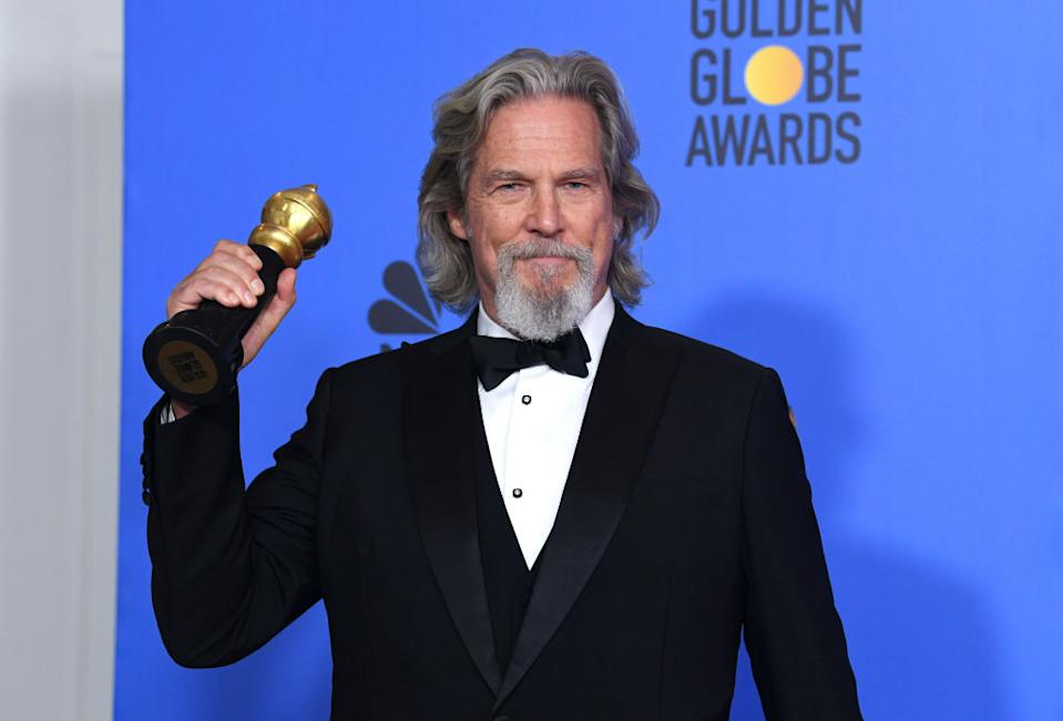 Jeff Bridges says his prognosis is good, pictured in January 2019. (Getty Images)