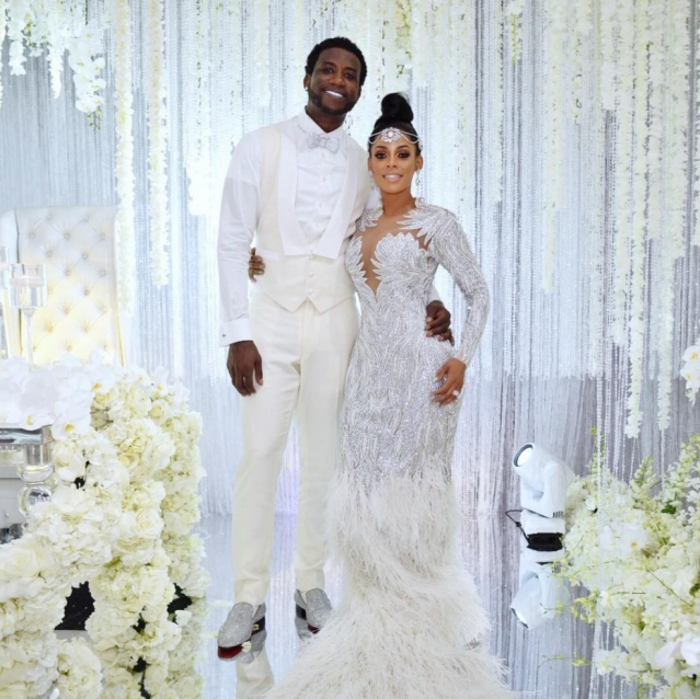 "<p>They do! The rapper (real name: Radric Davis) made the big announcement that he and Keyshia Ka'oir tied the night on Tuesday. ""Mr. and Mrs. Davis 10/17/17 we married,"" he captioned their wedding pic. The lavish event was held at the Four Seasons in Miami, with celebrity guests like Sean ""Diddy"" Combs, <em>Real Housewives of Atlanta</em> star Kim Zolciak-Biermann, and Karrueche Tran in attendance. (Photo: <a href=""https://www.instagram.com/p/BaX9lPiDdVr/?taken-by=laflare1017"" rel=""nofollow noopener"" target=""_blank"" data-ylk=""slk:Gucci Mane via Instagram"" class=""link rapid-noclick-resp"">Gucci Mane via Instagram</a>) </p>"