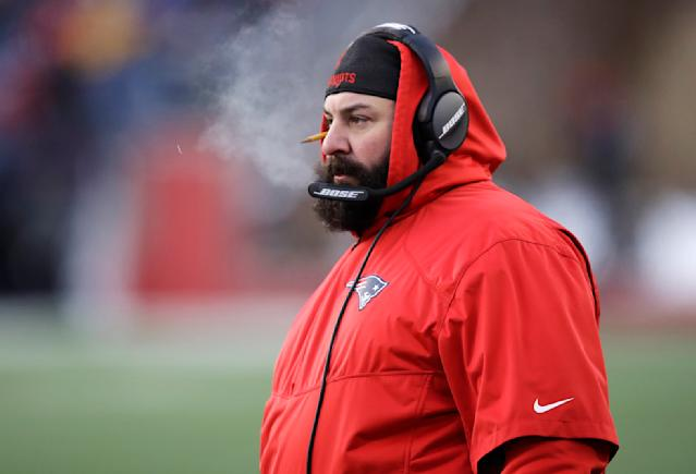 New England Patriots defensive coordinator Matt Patricia is a hot head coaching candidate, but who is he? (AP)