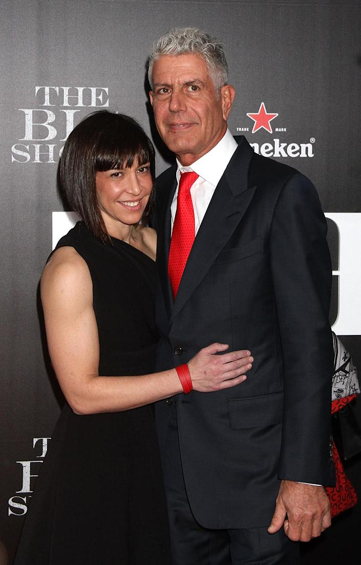 """Anthony Bourdain and Ottavia Busia were married from 2007 until 2016. <span class=""""copyright"""">Photo by Laura Cavanaugh/FilmMagic/Getty Images</span>"""