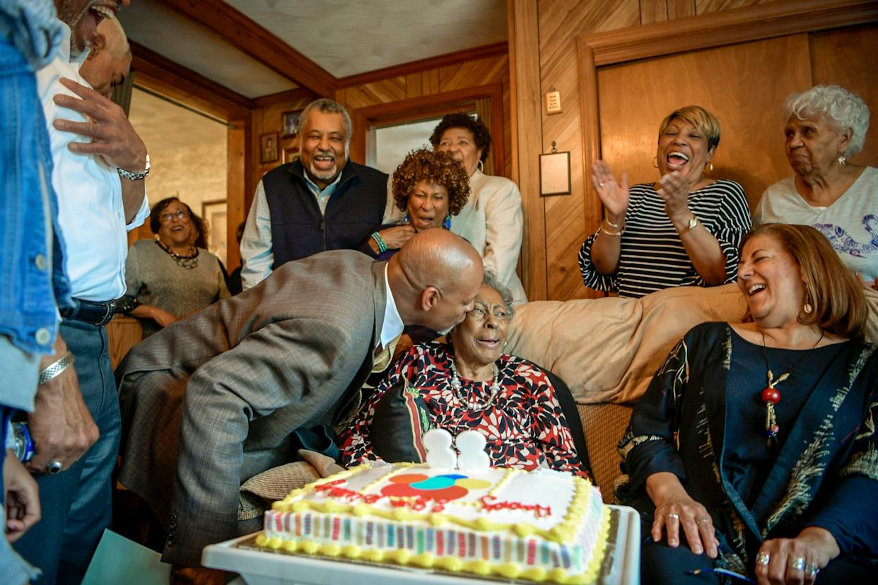 Many members of the Tucker family still live within miles of the place they believe their ancestors first landed at Point Comfort, now Fort Monroe Monument. Whether near or far, they meet regularly to celebrate milestones like Carol Tucker Jones 88th birthday.