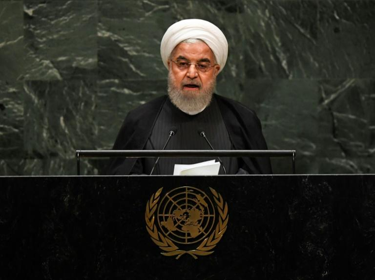 Iranian President Hassan Rouhani rules out talks with the United States so long as sanctions are in place (AFP Photo/TIMOTHY A. CLARY)