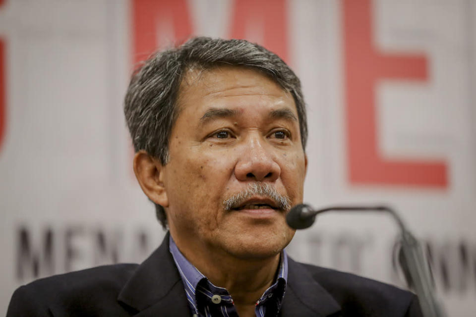 Datuk Seri Mohamad Hasan speaks during a press conference in Kuala Lumpur in this file picture taken on March 7, 2019. — Picture by Firdaus Latif