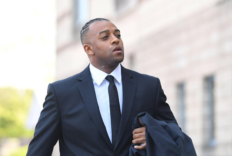 Former JLS star Oritse Williams arrives at Wolverhampton Crown Court where he is due to go on trial charged with raping a woman after a concert.