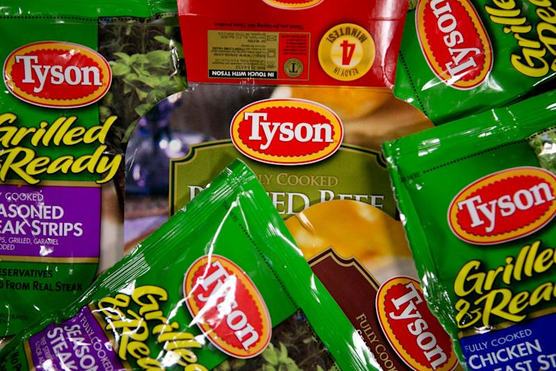 Packages of Tyson Foods processed meat products.  (Photo: Bloomberg via Getty Images)