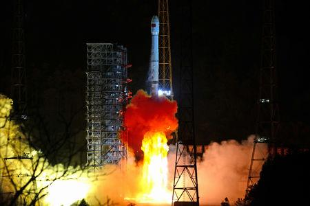 Long March-3B rocket carrying Chang'e 4 lunar probe takes off from the Xichang Satellite Launch Center