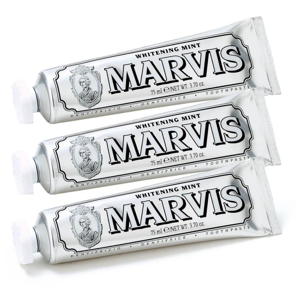 "<br><br><strong>Marvis</strong> Whitening Mint Toothpaste Bundle, $, available at <a href=""https://go.skimresources.com/?id=30283X879131&url=https%3A%2F%2Fus.lookfantastic.com%2Fmarvis-whitening-mint-toothpaste-bundle-3x85ml%2F11905214.html"" rel=""nofollow noopener"" target=""_blank"" data-ylk=""slk:LookFantastic"" class=""link rapid-noclick-resp"">LookFantastic</a>"