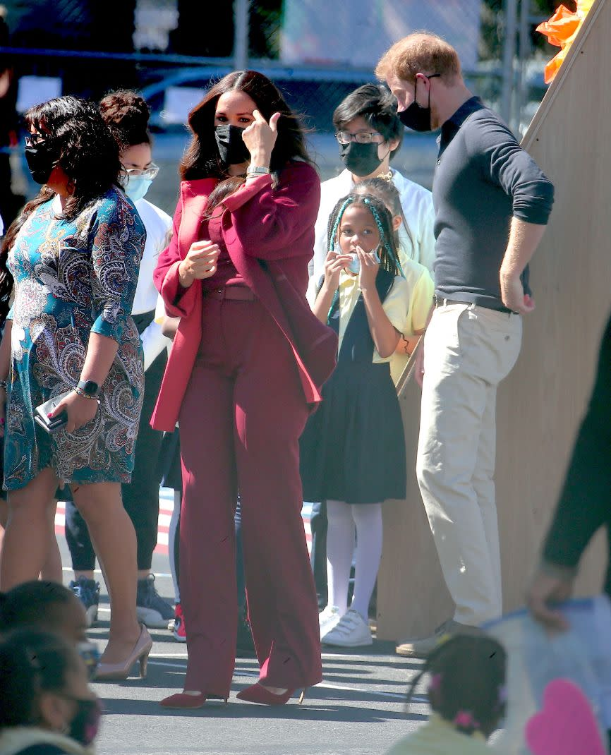 Meghan Markle and Prince Harry attend a school event at PS123 in Harlem, New York, NY on Sept. 24. - Credit: Dylan Travis/AbacaPress/Splash News