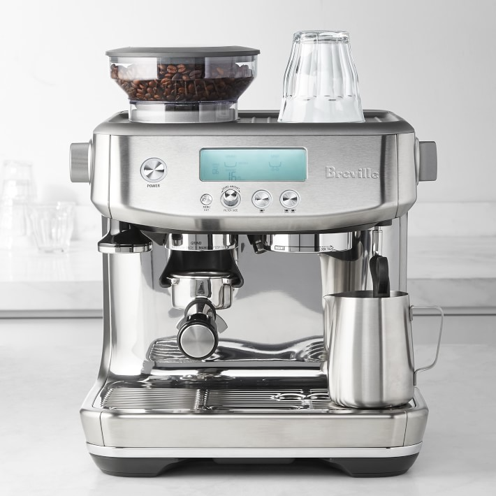 "<br><br><strong>Breville</strong> Barista Pro Espresso Machine, $, available at <a href=""https://go.skimresources.com/?id=30283X879131&url=https%3A%2F%2Fwww.williams-sonoma.com%2Fproducts%2Fbreville-barista-express-pro-espresso-machine%2F"" rel=""nofollow noopener"" target=""_blank"" data-ylk=""slk:Williams Sonoma"" class=""link rapid-noclick-resp"">Williams Sonoma</a>"