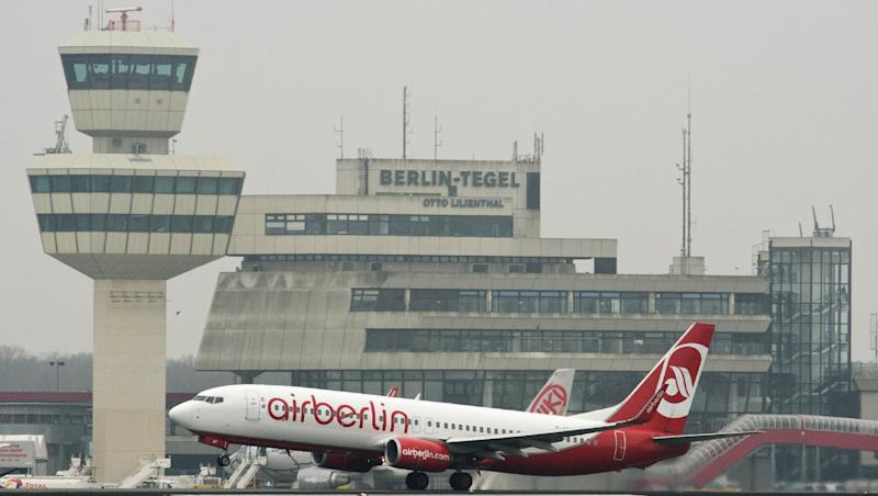 An Air Berlin passenger jet takes off from Berlin's Tegel airport, March 28, 2014