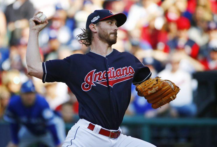 Josh Tomlin turned in a strong performance in Game 2 of the ALCS (AP Photo/Gene J. Puskar)