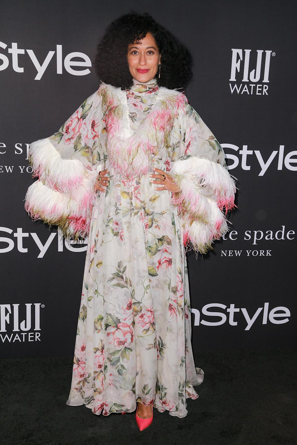 <p>The ultimate fashionista, Ross delivered a seriously high fashion look by Giambattista Valli. </p>
