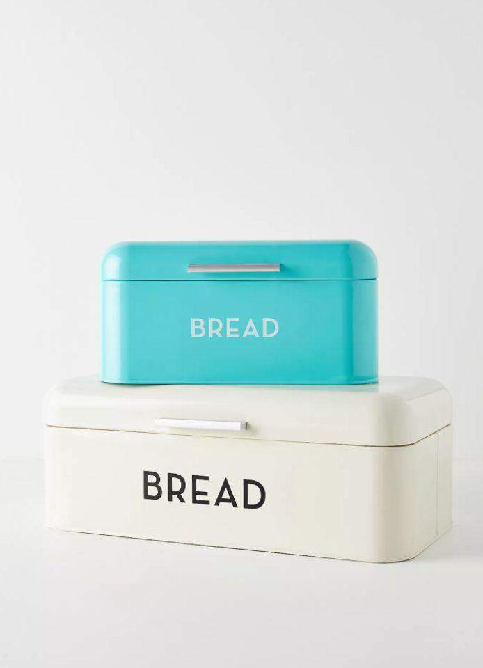"""They'll want to keep all their homemade breads fresher for longer. This bread bin will do just the trick, with a little bit of vintage vibes added in as well. <a href=""""https://fave.co/2I9Ohin"""" target=""""_blank"""" rel=""""noopener noreferrer"""">Find it for $48 at Anthropologie</a>."""