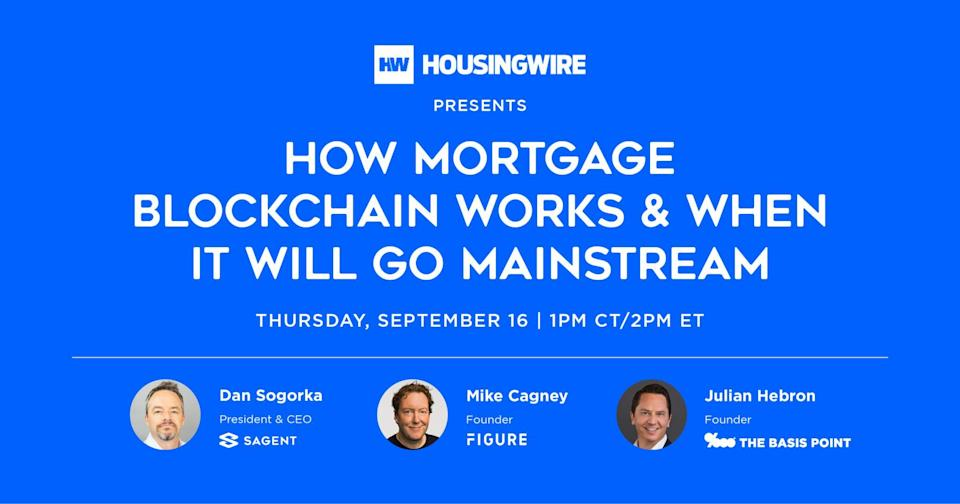 How Mortgage Blockchain Works And When It'll Go Mainstream - Figure, Sagent, The Basis Point 2021-09