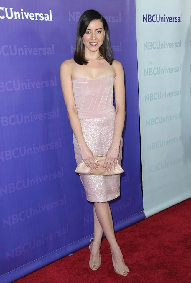 "<a href=""/aubrey-plaza/contributor/2255730"">Aubrey Plaza</a> (""<a href=""/parks-recreation/show/42828"">Parks and Recreation</a>"") attends the 2012 NBC Universal Winter TCA All-Star Party at The Athenaeum on January 6, 2012 in Pasadena, California."