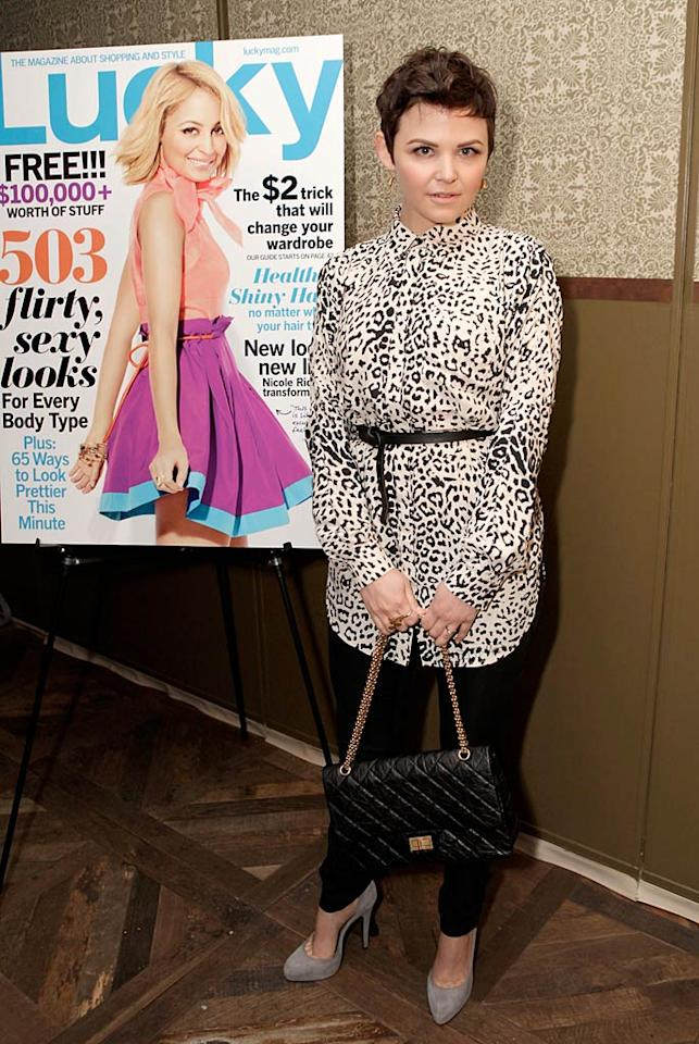 "A few days prior, Chloe's ""Big Love"" co-star Ginnifer Goodwin made the mistake of sporting this belted, leopard print blouse and skinny trousers to <i>Lucky</i> magazine's Nicole Richie cover party at Soho House in West Hollywood, California. Jeff Vespa/<a href=""http://www.wireimage.com"" target=""new"">WireImage.com</a> - January 10, 2011"