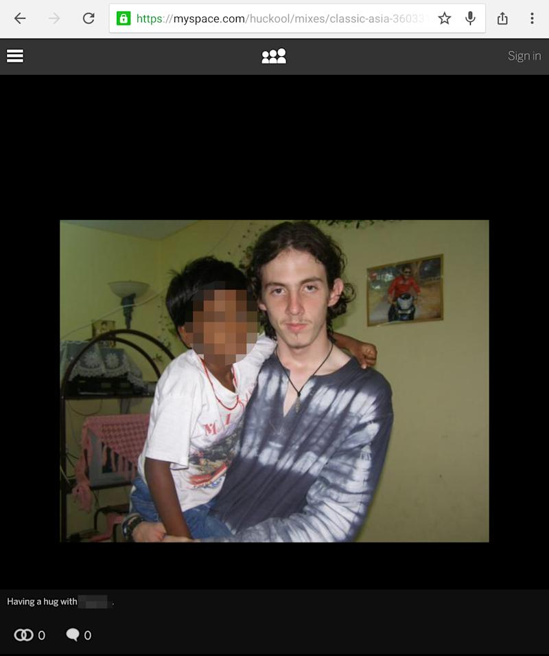 PIXELATED BY PA PICTURE DESK Undated image taken from Richard Huckle's Myspace page, as one of Britain's worst paedophiles who abused up to 200 Malaysian children and posted videos of his depraved acts on the dark web has been handed 22 life sentences.