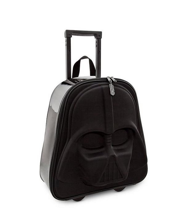"""<p>Travelers who identify with the Sith have a lot of luggage options, but <a href=""""http://www.amazon.com/Disney-Darth-Vader-Rolling-Luggage/dp/B00KQZX2CC"""">this one lights up</a>! Not only do you get an understated portrait of Darth Vader on the front (rather than an over-the-top kiddie version), but the wheels glow red as you roll through the airport. Even the TSA will know not to mess with you. Unfortunately, you'll have to add the Imperial March soundtrack yourself. $38.39</p><p><i><a href=""""http://www.amazon.com/Disney-Darth-Vader-Rolling-Luggage/dp/B00KQZX2CC"""">(Photo: Amazon/Disney)</a></i></p>"""