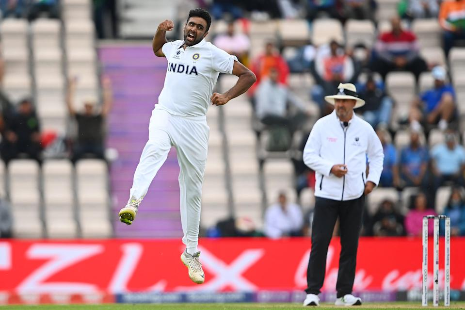 Ravichandran Ashwin celebrates a wicket in the World Test Championship final (Getty Images)