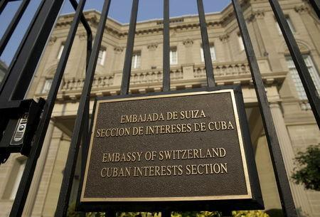 The Cuban Interests Section is seen in Washington, July 1, 2015. REUTERS/Gary Cameron