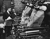 """<p>Without Abbott's creative vision, many of the Black publications of today—such as <em>Ebony</em>, <em>Essence</em>, <em>Black Enterprise</em>, and <em>Upscale—</em>wouldn't exist. In 1905, Abbott founded the <em><a href=""""https://chicagodefender.com"""" rel=""""nofollow noopener"""" target=""""_blank"""" data-ylk=""""slk:Chicago Defender"""" class=""""link rapid-noclick-resp"""">Chicago Defender</a></em> weekly newspaper. The paper originally started out as a four-page pamphlet, increasing its circulation with every edition. Abbott and his newspaper played an integral part in encouraging African Americans to migrate from the South for better economic opportunities. </p>"""