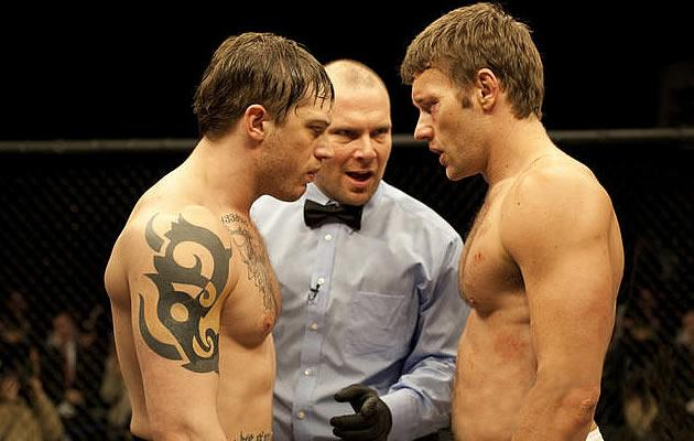 The two brothers face off in the ring (Yahoo! Photo)