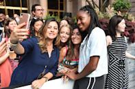 Coco Gauff posed for a selfie with a fan.