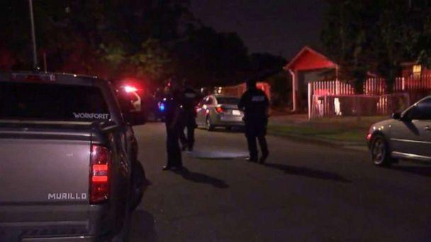 PHOTO: A female driver is on the run after hitting a 4-year-old girl with her car as she was crossing the street during a gender reveal party in southeast Houston on Saturday, June 26, 2021. (ABC News/KTRK)