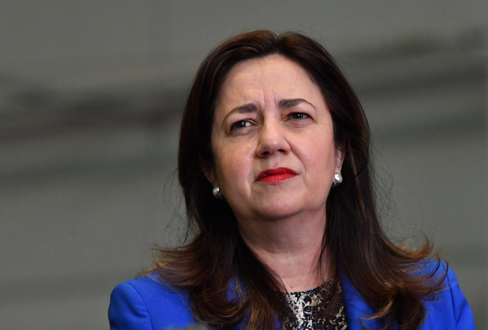Queensland Premier Annastacia Palaszczuk says the state needs to pause all arrivals after a Covid scare yesterday. Source: AAP