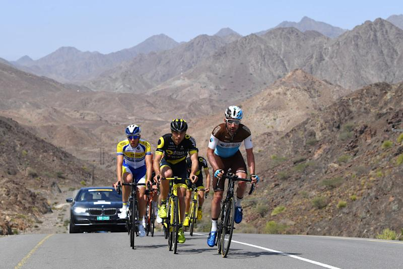 The breakaway on the queen stage of the 2019 Tour of Oman