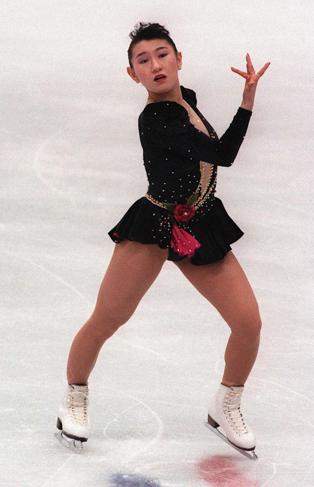 <p>Expect to see jumps galore during the women's figure skating competition and credit that to Midori Ito. The Japanese figure skater is the first woman to land a triple-triple jump combination and at the 1988 Calgary Olympics where she won a silver medal, she became the first woman to land seven triple jumps in a free skating competition. </p>