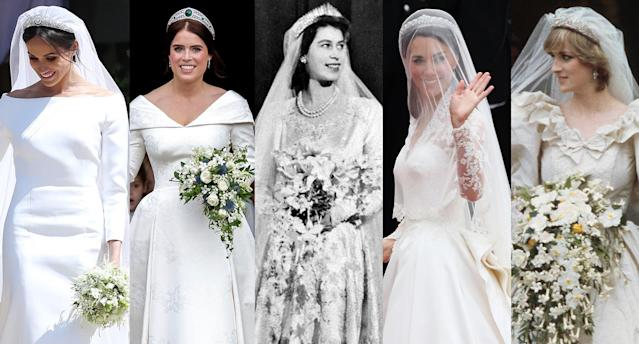 Royal wedding dresses: which is your favourite? (Getty Images)