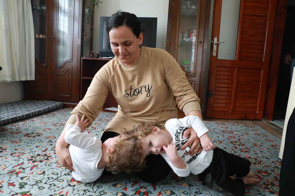 ANTALYA, TURKEY - (ARCHIVE): A file photo dated on November 30, 2019 shows siamese twins Derman and Yigit Evrensel in Antalya, Turkey. With the helping hand from Turkish President Recep Tayyip Erdogan, the 2-year-olds Derman and Yigit were operated in the United Kingdom and successfully separated. (Photo by Aytug Can Sencar/Anadolu Agency via Getty Images)