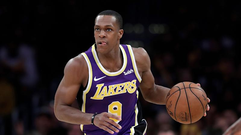 769e075b3 ... New Orleans Pelicans. Rajon Rondo caused a stir by sitting with fans  during Wednesday s game at Staples Center. (AP Photo Marcio Jose Sanchez)