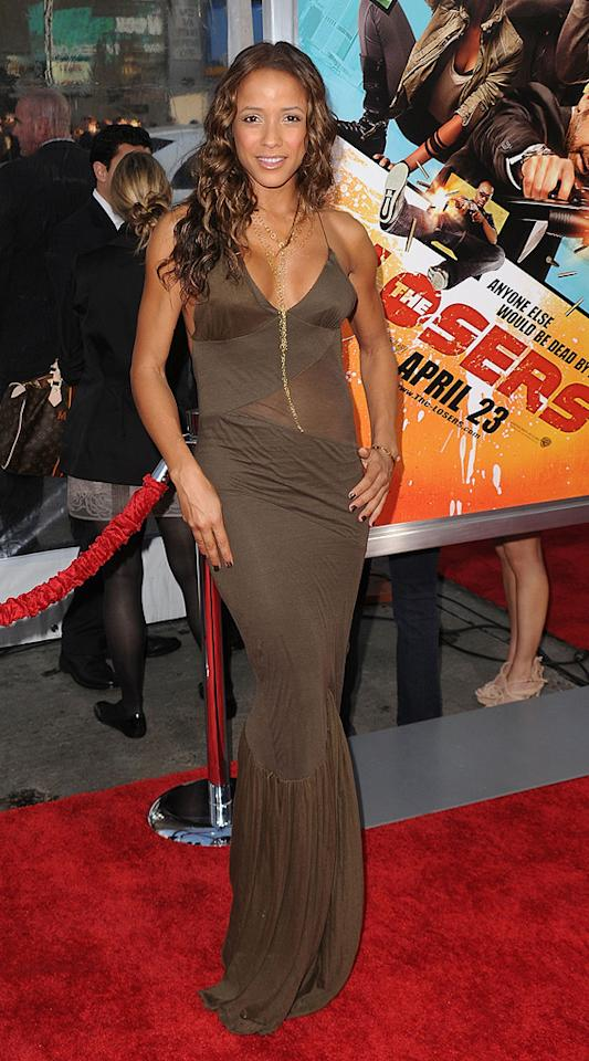 """<a href=""""http://movies.yahoo.com/movie/contributor/1808482606"""">Dania Ramirez</a> at the Los Angeles premiere of <a href=""""http://movies.yahoo.com/movie/1810096356/info"""">The Losers</a> - 04/20/2010"""