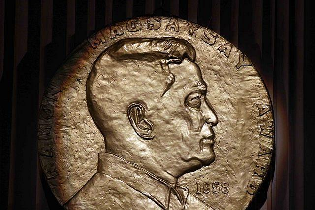 The Ramon Magsaysay award is considered Asia's highest honor, dubbed as the region's equivalent of the Nobel Prize. It is given annually to individuals or organizations in Asia in honor of late Philippine President Ramon Magsaysay. (Mike Alquinto, NPPA Images)