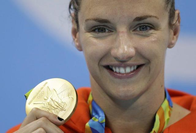 "<a class=""link rapid-noclick-resp"" href=""/olympics/rio-2016/a/1103927/"" data-ylk=""slk:Katinka Hosszu"">Katinka Hosszu</a> has three gold medals at the Rio Games. (AP)"
