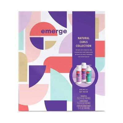 <p>Keep your curls healthy and moisturized this winter with the <span>Emerge Natural Curls Collection</span> ($15) that includes a shampoo, a conditioner, and a leave-in.</p>