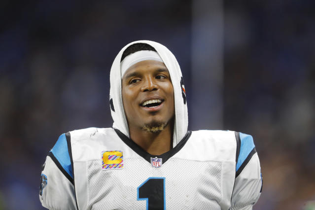 Carolina Panthers quarterback Cam Newton hasn't talked to the media this week. (AP)