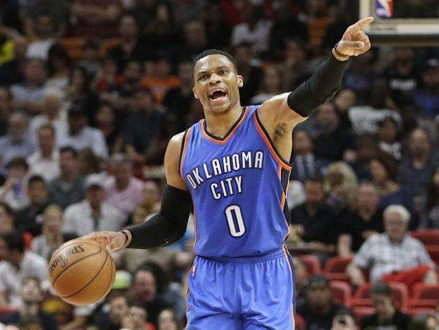 Russell Westbrook is playing a lot of minutes this season. (AP)